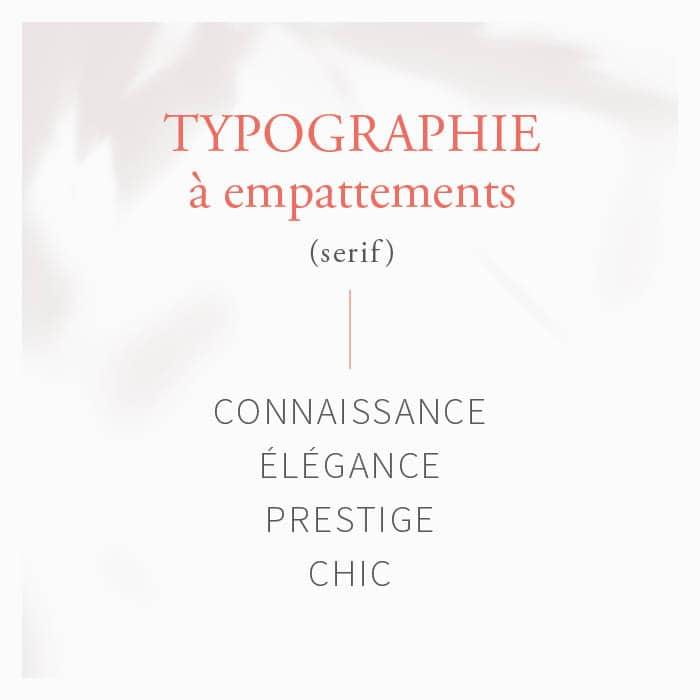 logo typographie à empattement