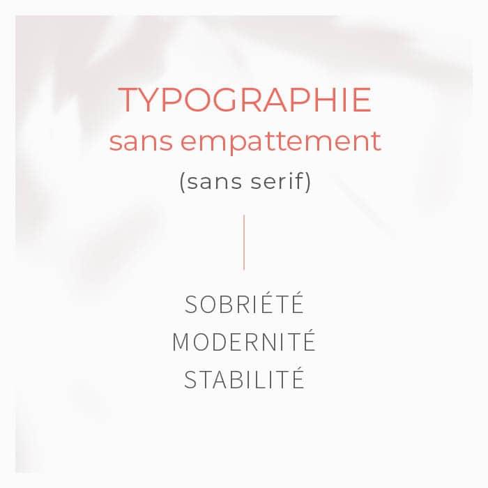 logo typographie sans empattement